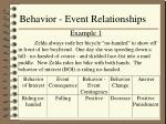 behavior event relationships9