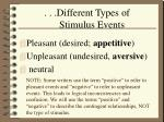 different types of stimulus events