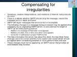 compensating for irregularities