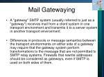 mail gatewaying