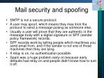 mail security and spoofing