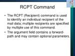 rcpt command