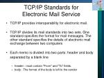 tcp ip standards for electronic mail service