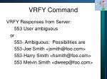 vrfy command