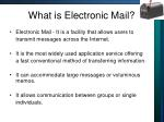 what is electronic mail