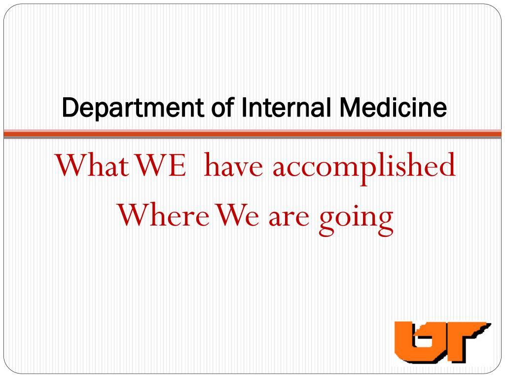 department of internal medicine l.