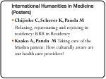 international humanities in medicine posters
