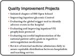 quality improvement projects