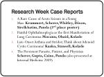 research week case reports