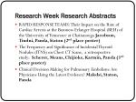 research week research abstracts