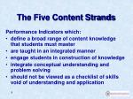 the five content strands