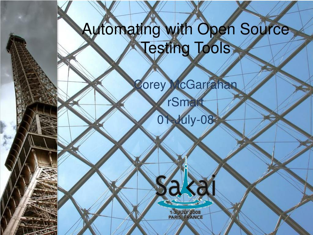 automating with open source testing tools l.
