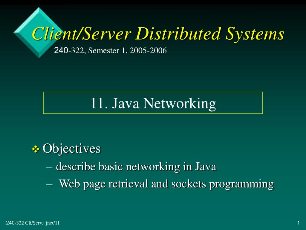 client server distributed systems l.