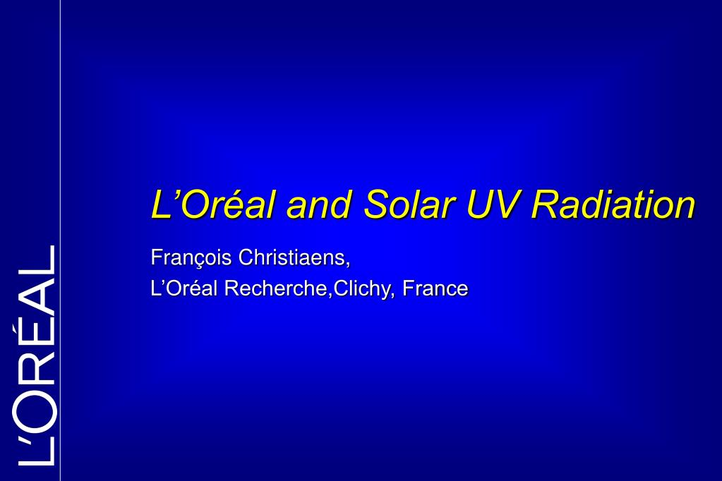 fran ois christiaens l or al recherche clichy france l.