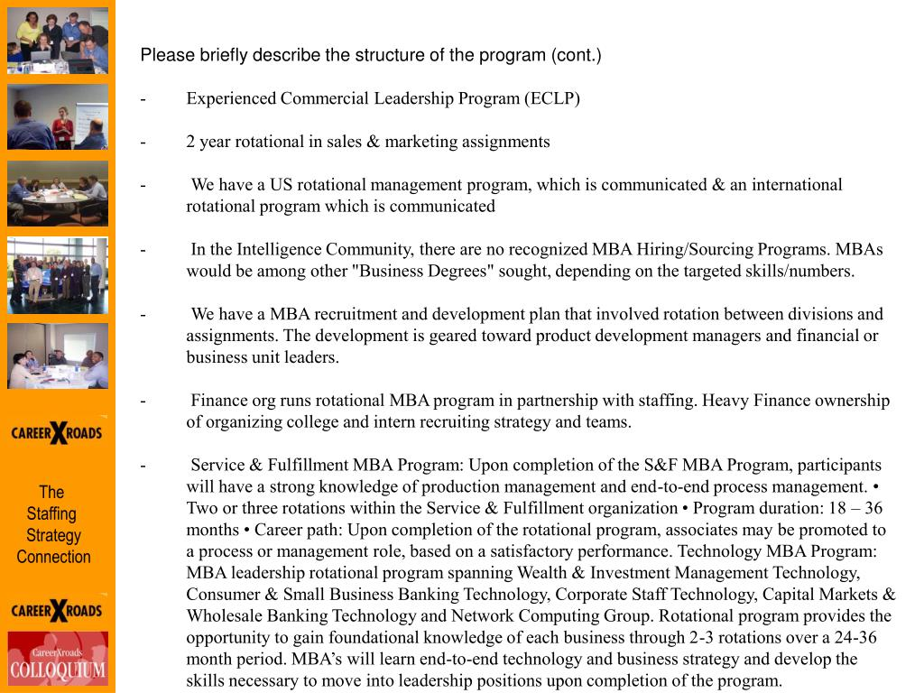 Please briefly describe the structure of the program (cont.)
