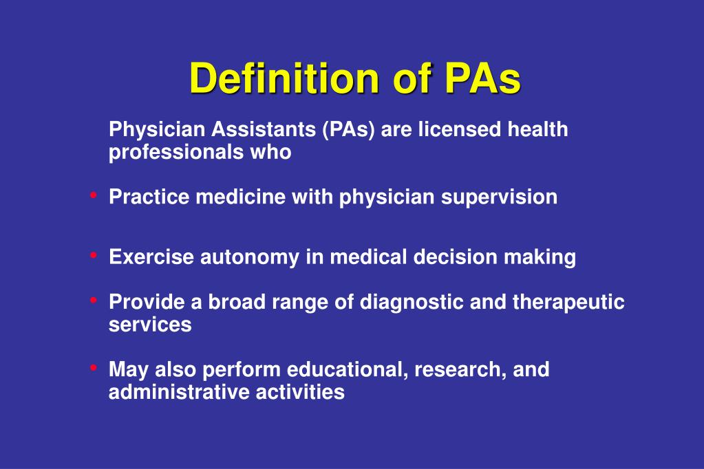 Definition of PAs