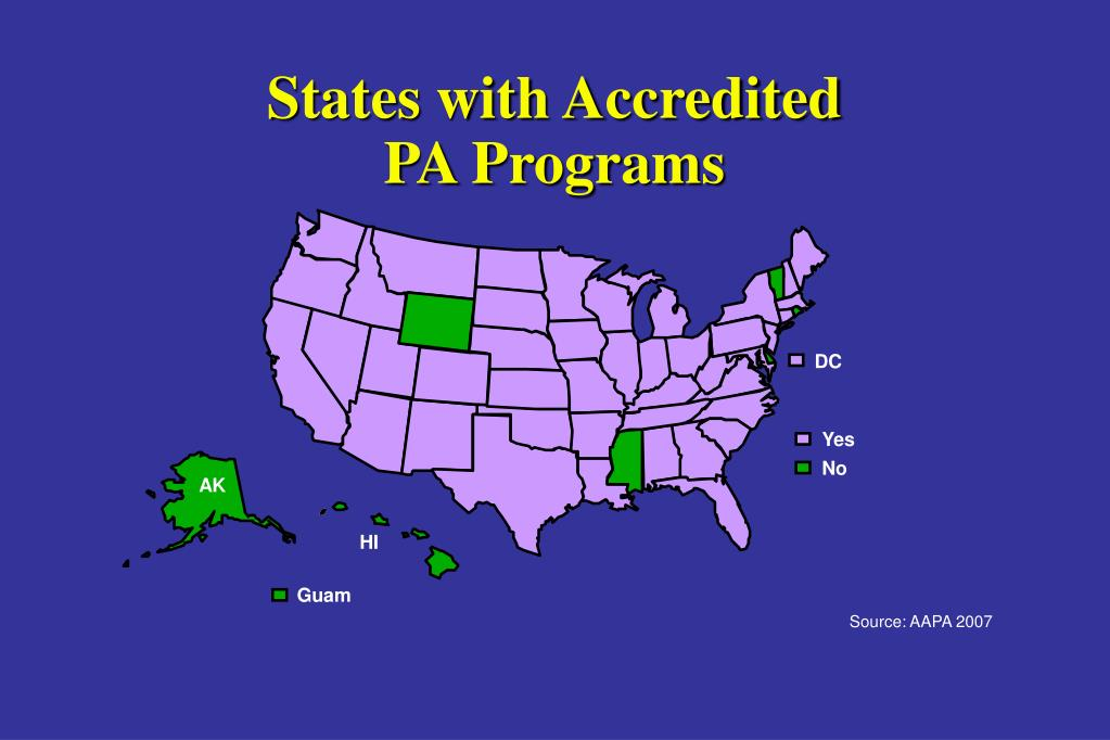 States with Accredited