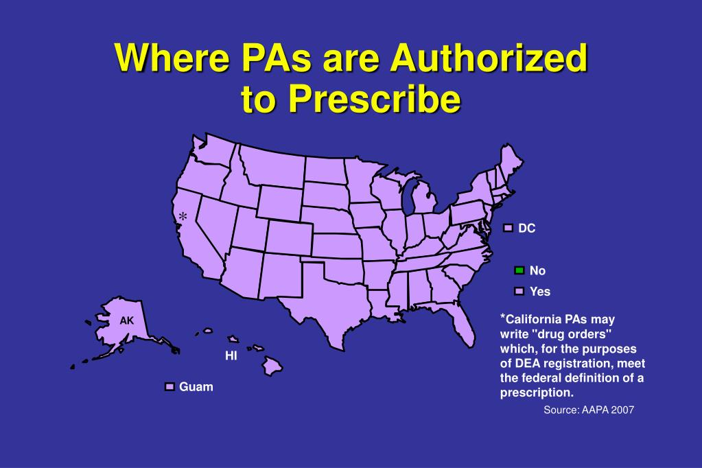 Where PAs are Authorized