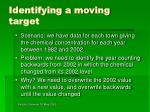 identifying a moving target