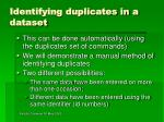 identifying duplicates in a dataset6