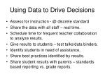 using data to drive decisions