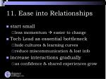 11 ease into relationships