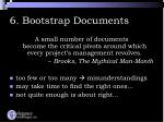 6 bootstrap documents