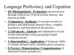 language proficiency and cognition