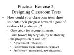 practical exercise 2 designing classroom tests