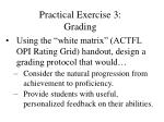 practical exercise 3 grading92