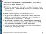 international network of quality assurance agencies in higher education inqaahe