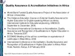 quality assurance accreditation initiatives in africa