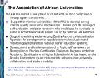 the association of african universities