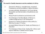 the need for quality assurance and accreditation in africa