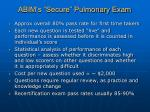 abim s secure pulmonary exam