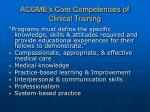 acgme s core competencies of clinical training