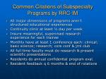 common citations of subspecialty programs by rrc im