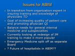 issues for abim