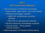 moc self examination modules
