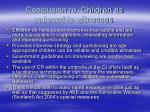 conclusion re children as vulnerable witnesses