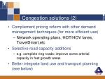 congestion solutions 2