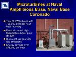 microturbines at naval amphibious base naval base coronado