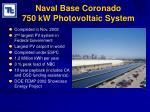 naval base coronado 750 kw photovoltaic system