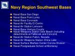 navy region southwest bases