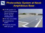 photovoltaic system at naval amphibious base