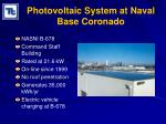 photovoltaic system at naval base coronado