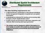 distributed spatial architecture requirements