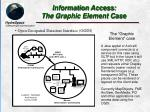 information access the graphic element case