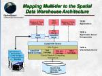 mapping multi tier to the spatial data warehouse architecture