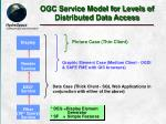 ogc service model for levels of distributed data access